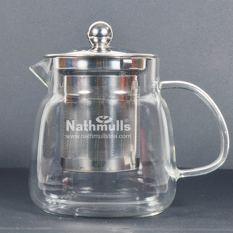 EXOTIC TAPERED TEA POT WITH STEEL INFUSER