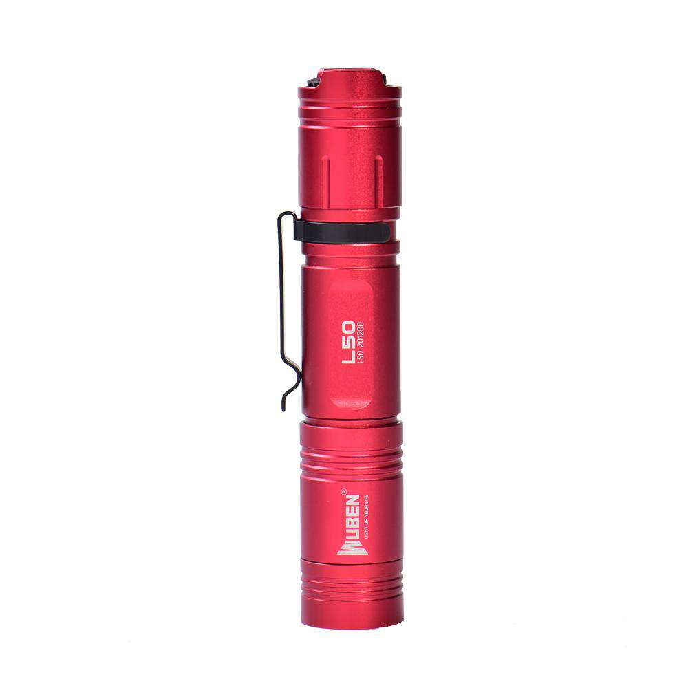 WUBEN L50 Red Personalized Number 1200 Lumens LED Flashlight Souvenir Box Commemorative Edition