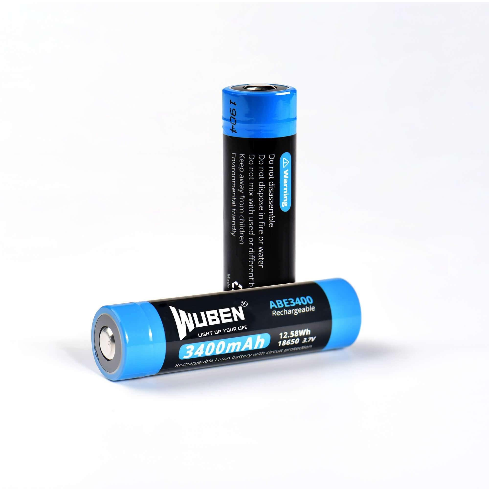 ABE3400 18650 3400mAh rechargeable Protected lithium battery