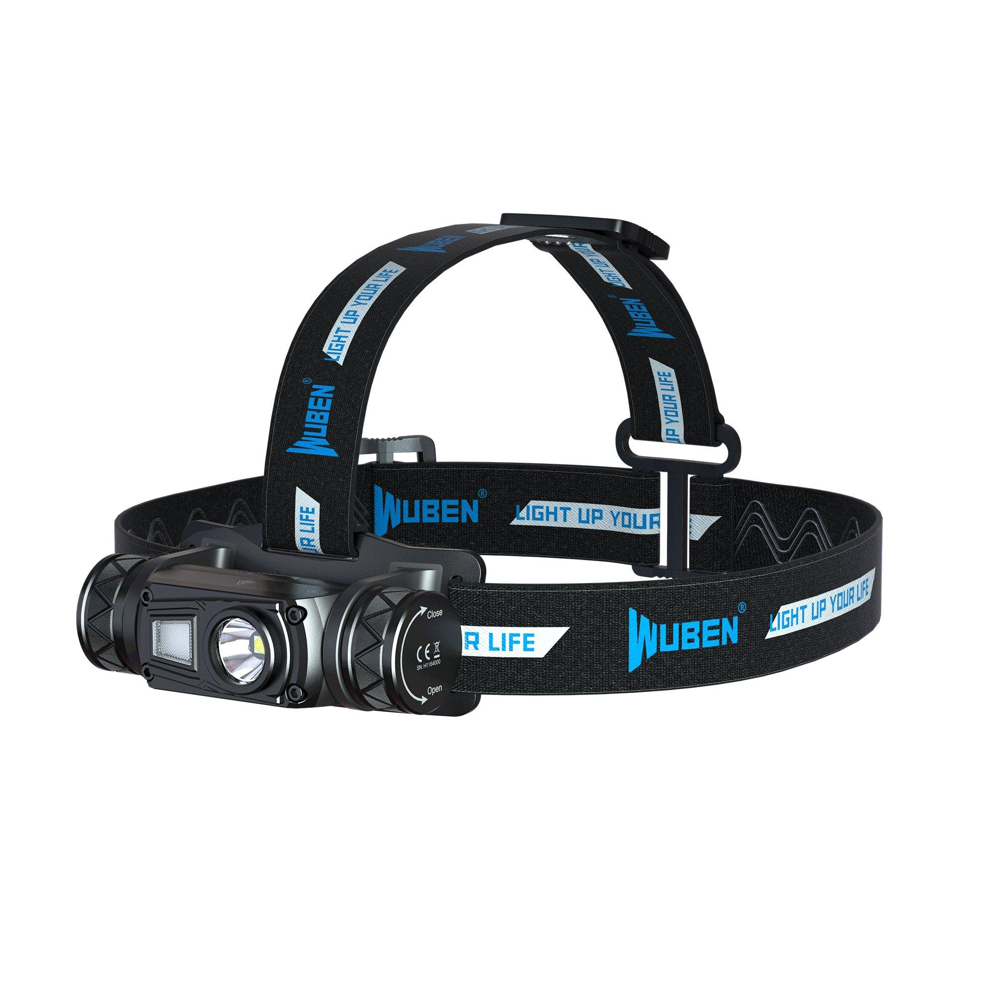 WUBEN H1 LED Headlamp Super Bright 1200 Lumens 18650 Battery USB Rechargeable IP68 Waterproof Portable Headlamp