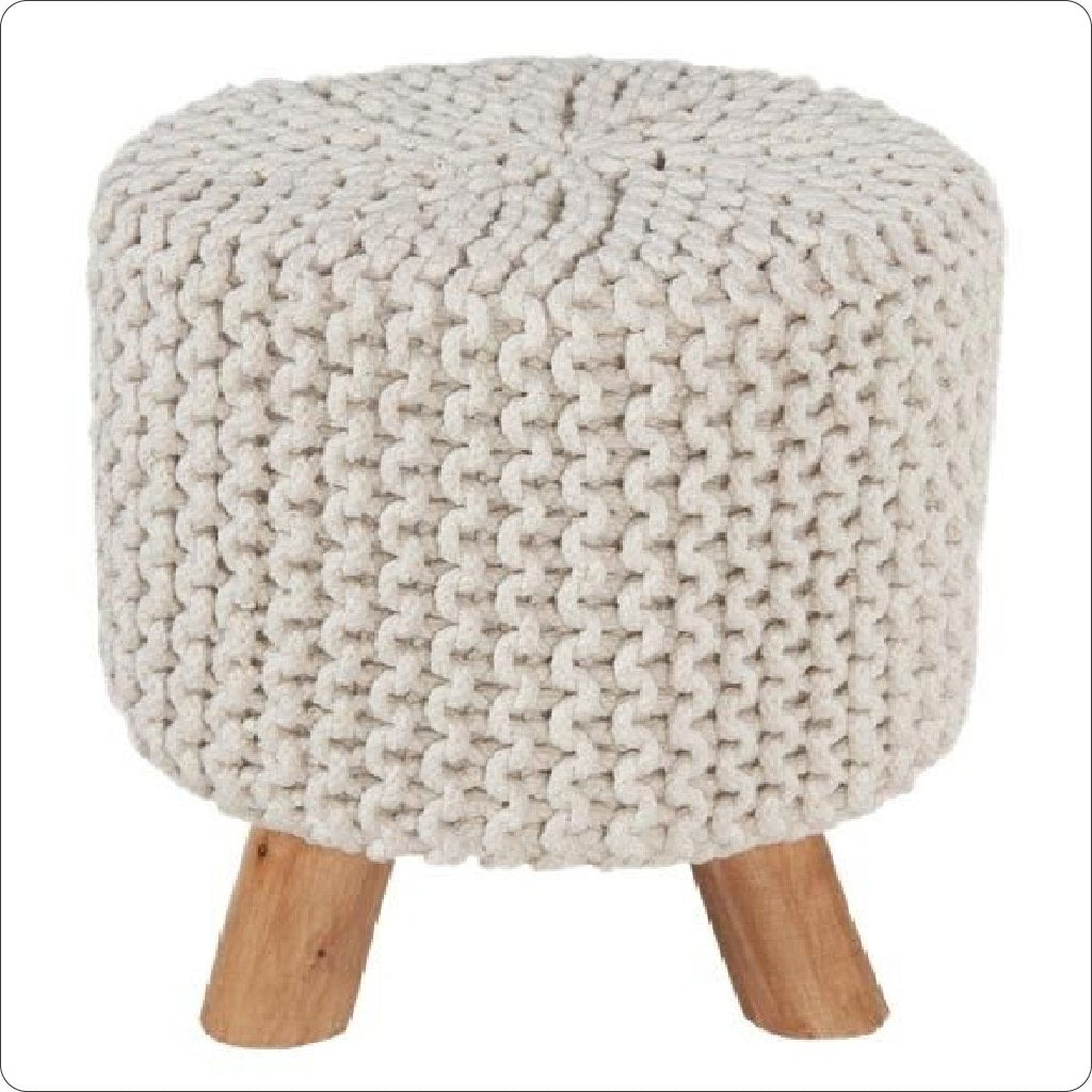 Foot Stool home décor round pouf ottoman