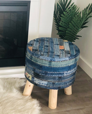 Denim Pouf