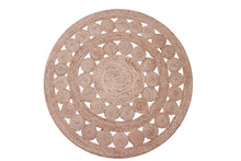Load image into Gallery viewer, Jute Circle Braided Rug Round 120cm