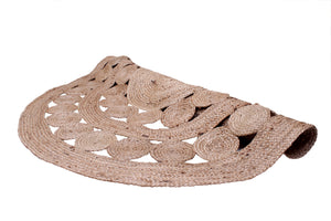 Jute Circle Braided Rug Round 150cm