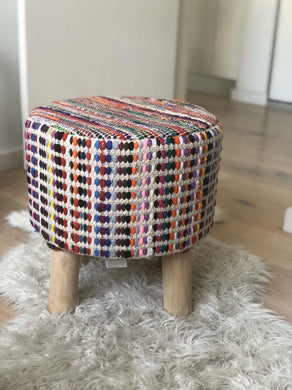 Rainbow Pouf Chindi