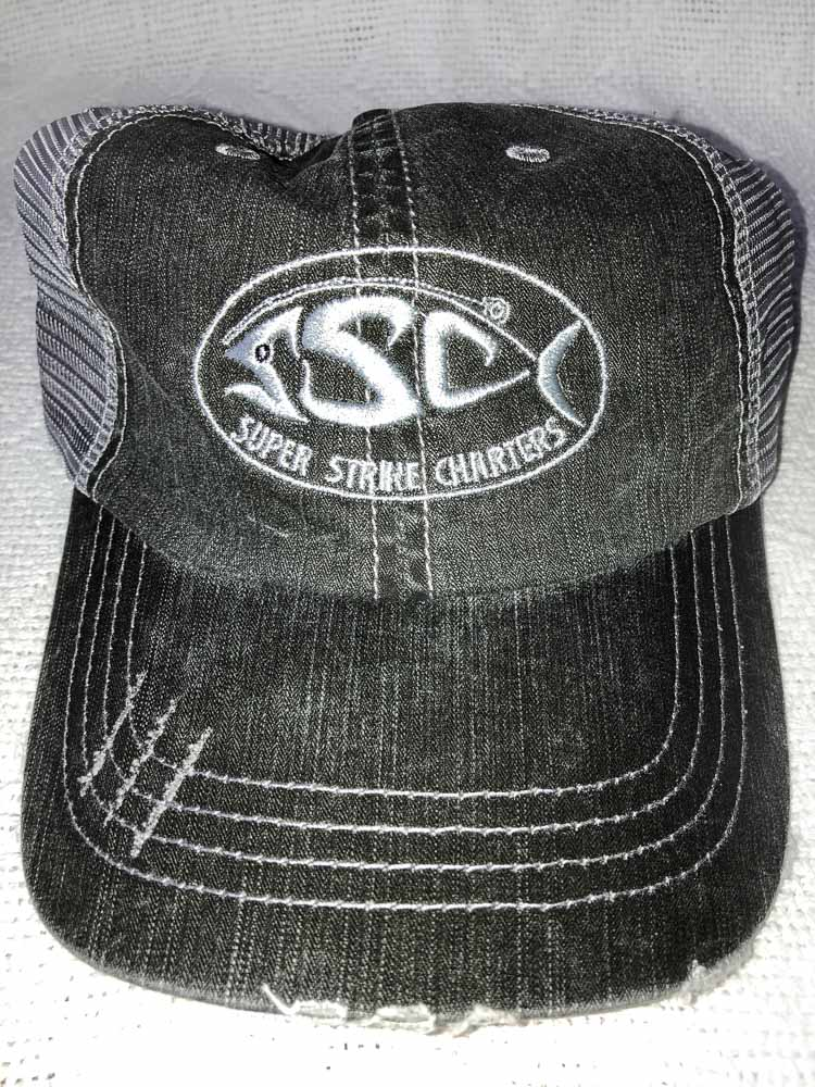 BLACK AND GREY HAT WITH SUPER STRIKE LOGO