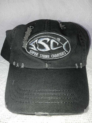 NAVY BLUE HAT WITH SUPER STRIKE LOGO