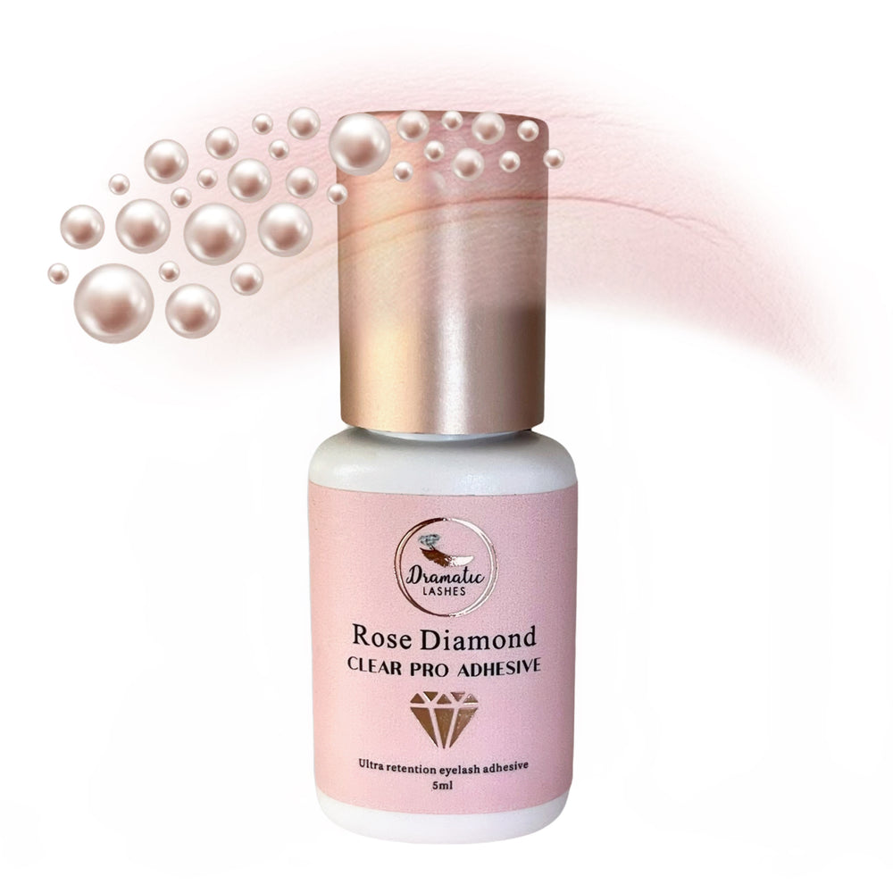 Rose Diamond Clear Pro adhesive for eyelash extensions