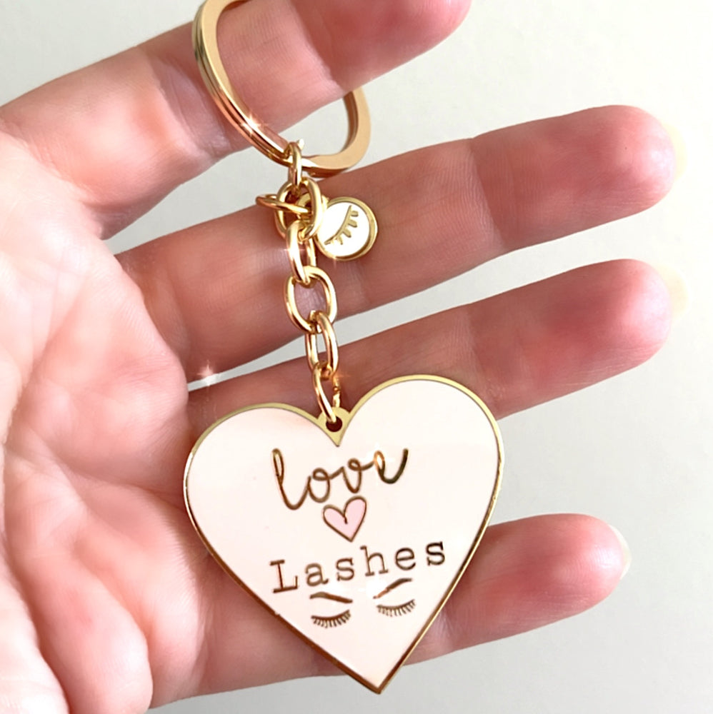 """Love Lashes"" Key Chain"