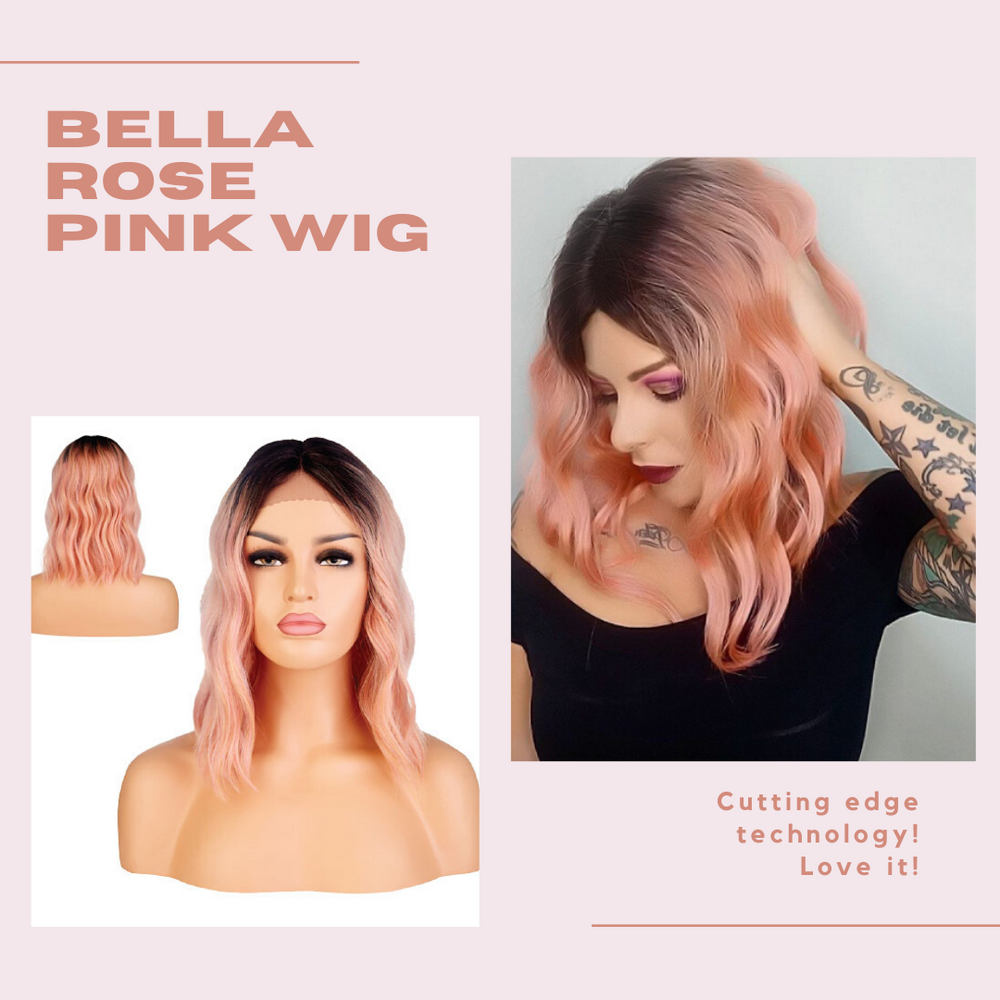 BELLA ROSE PINK WIG