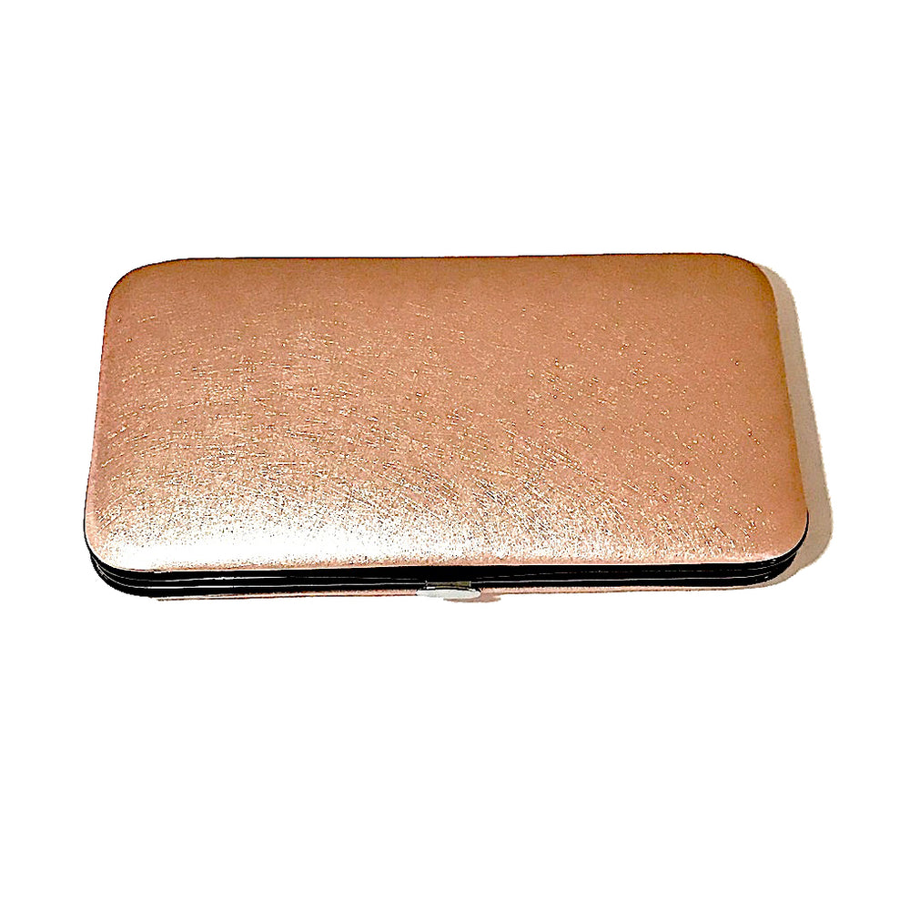 Rose gold magnetic eyelash tweezer case
