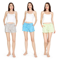 Pack of 3 : Printed Women's Shorts (Golf Print) - The Cotton Company - Women - Shorts