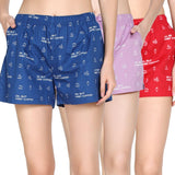 Pack of 3 : Printed Women's Shorts - TCC - The Cotton Company