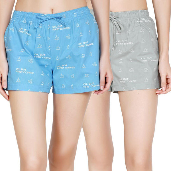Pack of 2 : Printed Women's Shorts - TCC - The Cotton Company