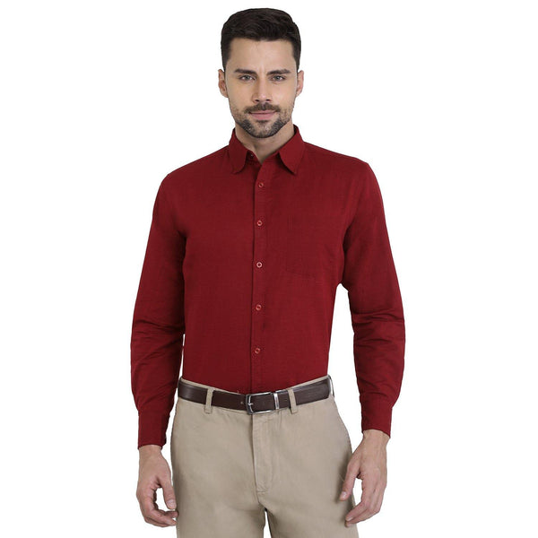 Cotton Shirt for Men - Red - The Cotton Company - Men - Shirt