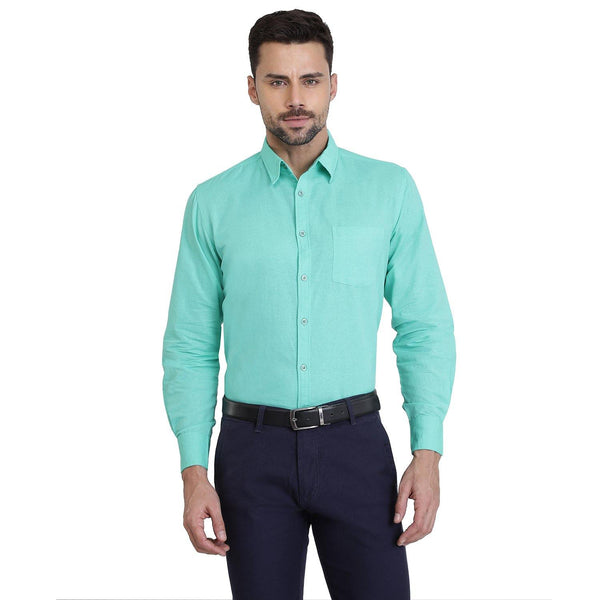 Cotton Shirt for Men - Teal - The Cotton Company - Men - Shirt