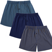 Pack of 3 : Yarn Dyed Men's Boxer Shorts - TCC - The Cotton Company