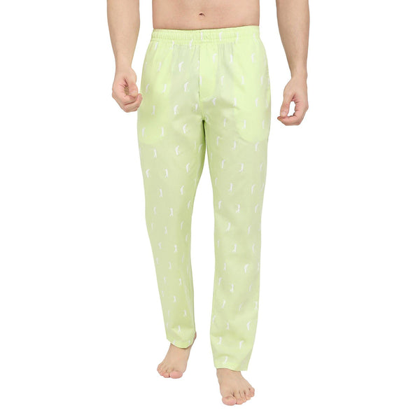 Printed Men's Lounge Pants (Golf Print, Green) - The Cotton Company - Men - Pyjama Pant