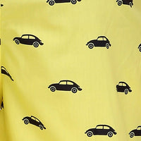 Printed Men's Boxer Shorts (Car Print, Yellow) - The Cotton Company - Men - Boxer Shorts