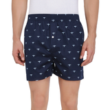 Printed Men's Boxer Shorts (Plane Print, Navy) - The Cotton Company - Men - Boxer Shorts