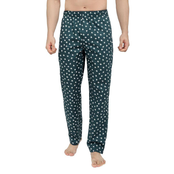 Printed Men's Lounge Pants (Pirateship Print, Green) - The Cotton Company - Men - Pyjama Pant