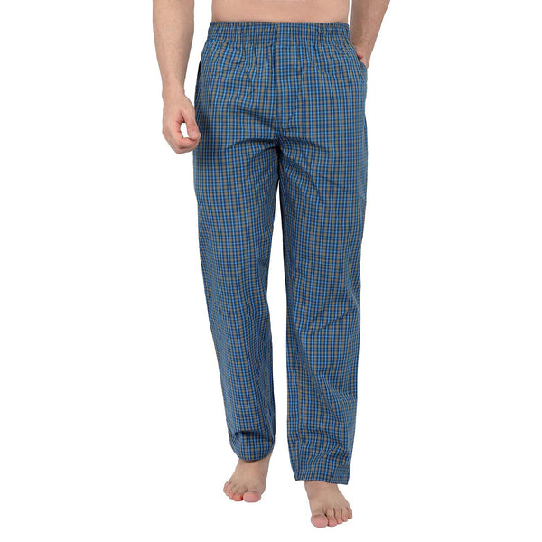 Checked Men's Lounge Pants (Blue) - The Cotton Company - Men - Pyjama Pant