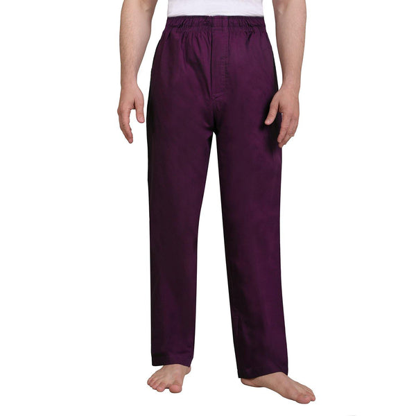 Solid Men's Lounge Pants (Purple) - The Cotton Company - Men - Pyjama Pant