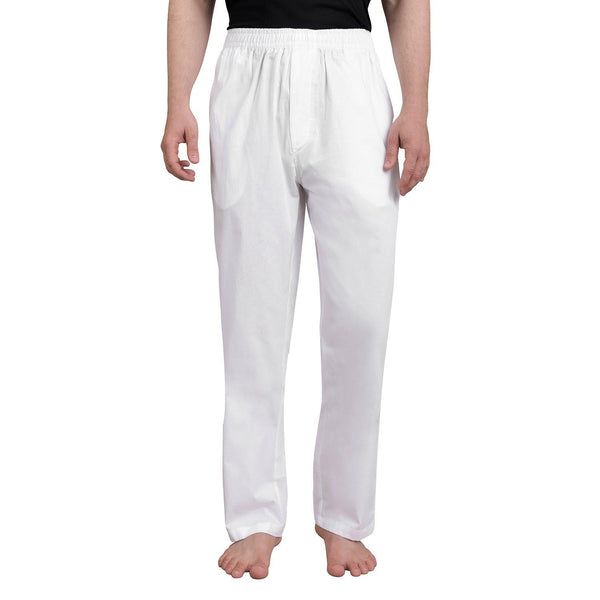 Solid Men's Lounge Pants (White)