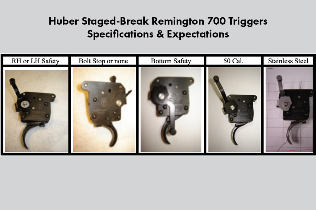Huber Concepts Staged-Break Trigger Specifications and Expectations