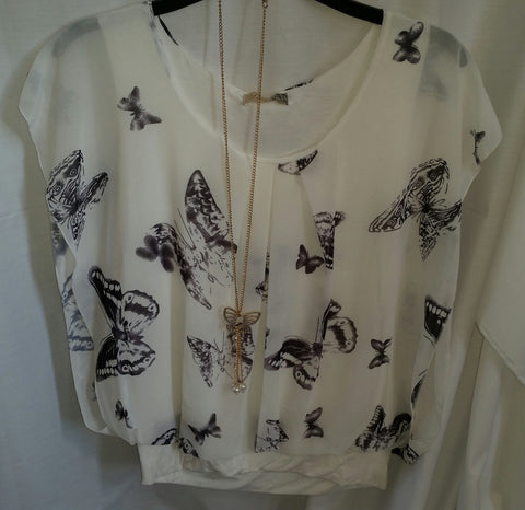 butterfly top with chain