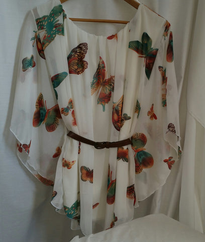 butterfly top with belt