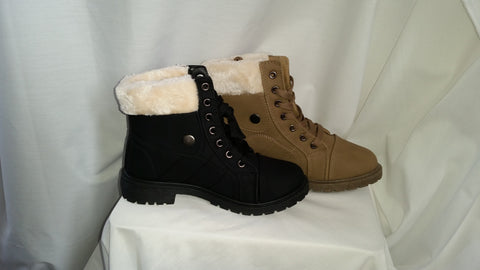 fir ankle boots