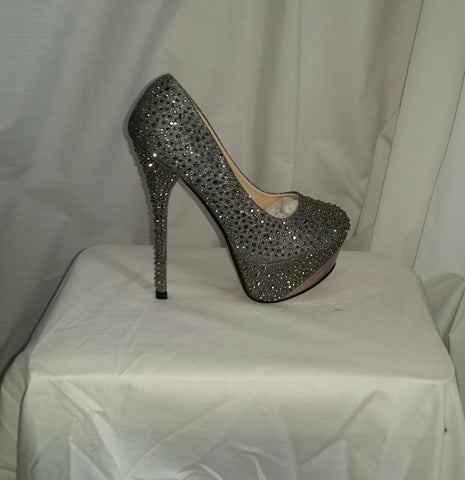 Silver Sparky High Heel Shoes