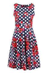 Spotted Scatter Dress with Flowers