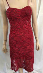 Lace dress with thin strap