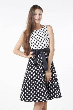 Contrast Polka Dot Dress
