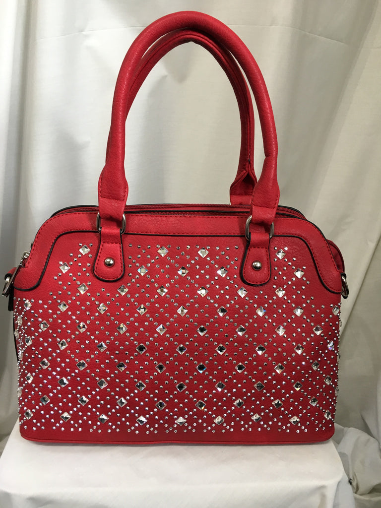 Red jewelled Handbag
