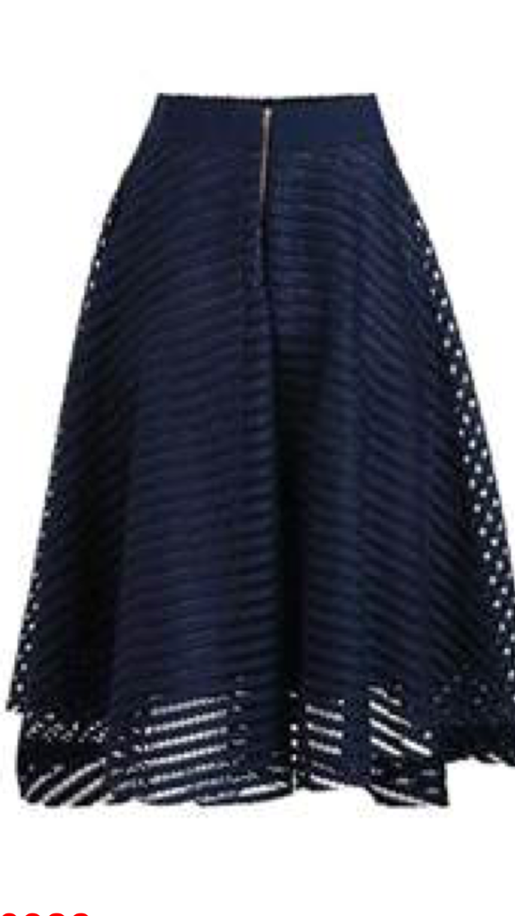 Navy knee-length skirt
