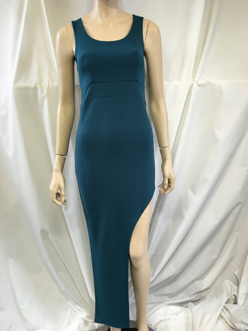 Asymmetrical Turquoise Dress