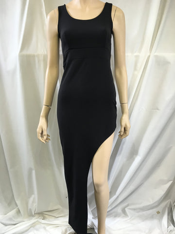 Asymmetrical Black Dress