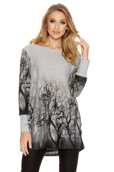Grey Winter Tree Design top