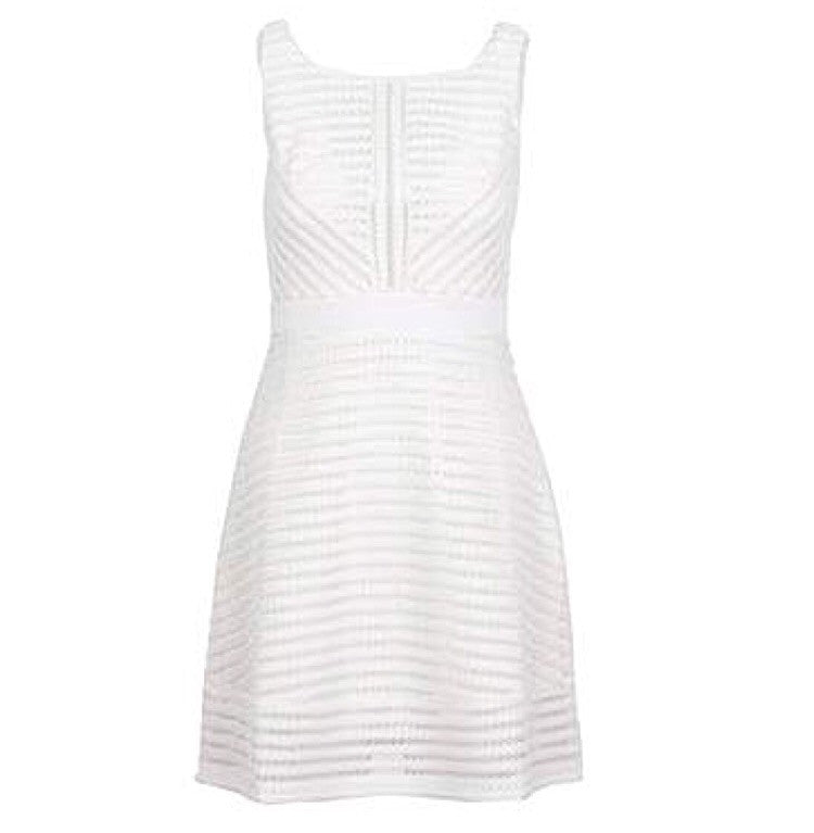 White Stripped Dress (goes in Blue)
