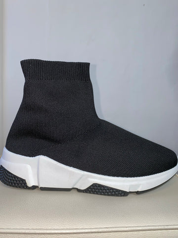 Black and White sock boots