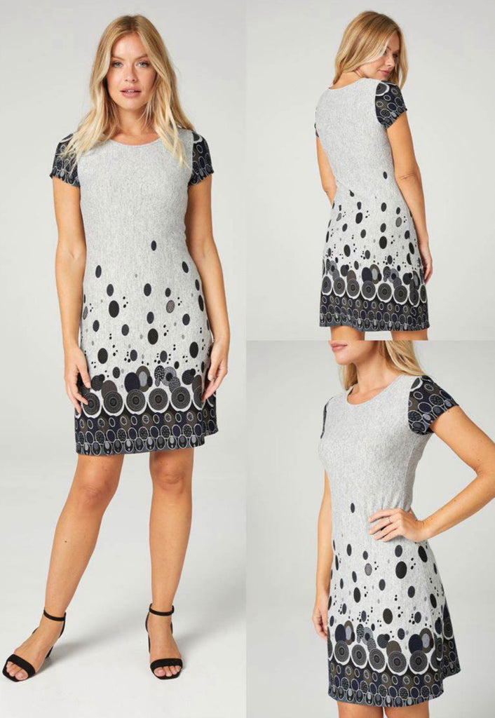 Grey spotted short sleeve tunic