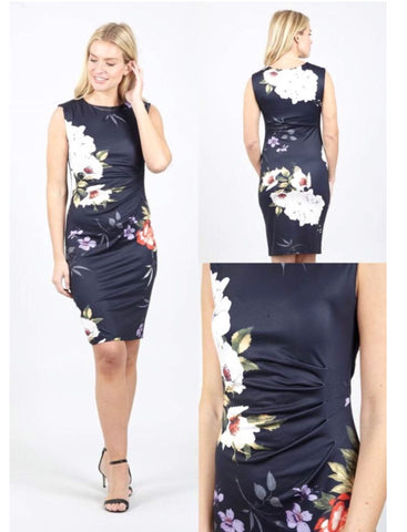 Sheen navy flower dress