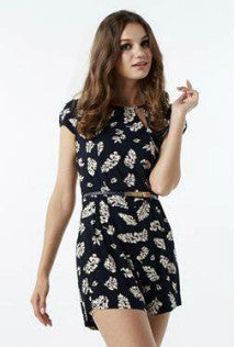 leaf design casual dress