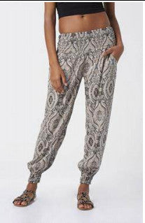 patterned cotton trousers