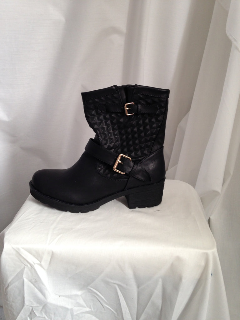 buckled ankle boots