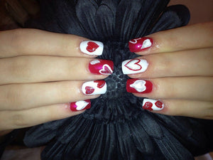 Easy Valentine's Day nail art designs