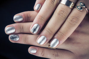 Social media and other chrome nail inspiration